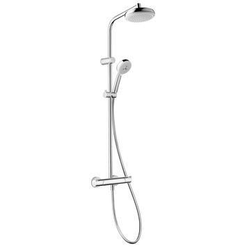 Système de douche My Club Hansgrohe avec douche à main et robinet thermostatique Ø18 cm chromé