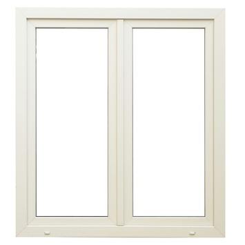 Fenêtre oscillo-battante double en pvc eco 138x126 cm U=1,1 droit SP1312 blanc