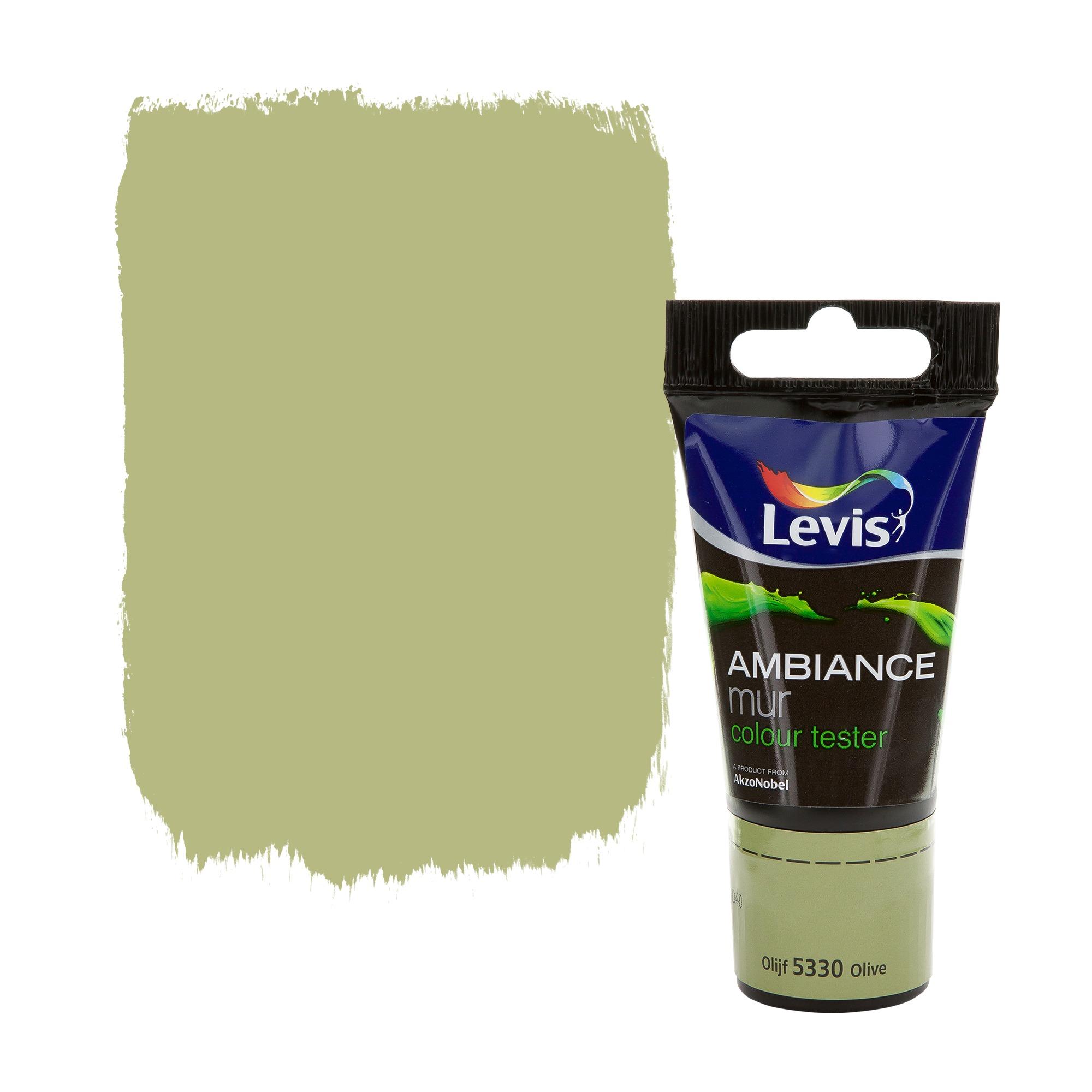 Peinture Levis Chambre : Testeur peinture ambiance mur levis extra mat olive ml
