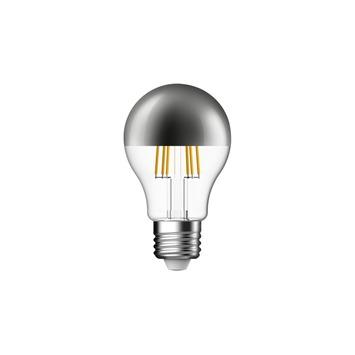 Ampoule poire LED à filament Handson calotte argentée E27 6W=50W ...