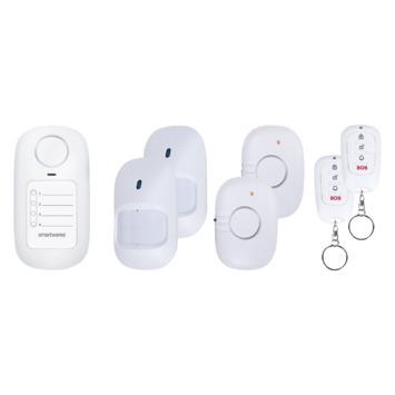 Jeu mini alarme sans fil Smartwares 2 détecteurs de mouvement, 2 contacts magnétiques, 2 télécommandes