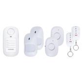 Smartwares draadloze mini alarm set 2 bewegingsdetectoren 2 magneetcontacten 2 afstandsbedieningen