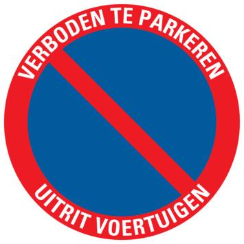 Pictogram verboden te parkeren - uitrit voertuigen ø 30 cm