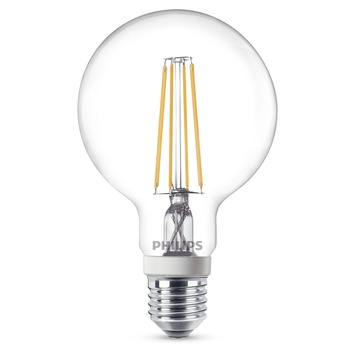 Philips LED filament globelamp E27 7 W = 60 W dimbaar