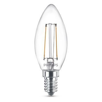 Ampoule flamme LED à filament Philips E14 2 W = 25 W 2 pièces