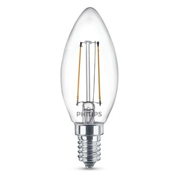 Ampoule bougie LED à filament Philips E14 2 W = 25 W 250 lumens duopack