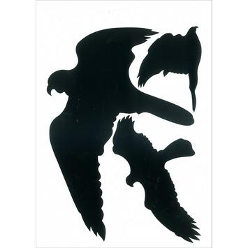 Pickup glassilhouet vogels zwart 3 stuks