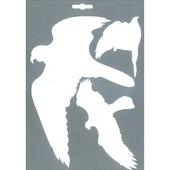 Pickup glassilhouet vogels wit 3 stuks