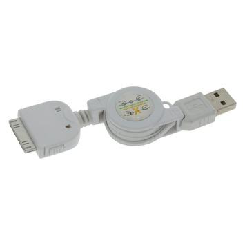 Q-link kabelroller voor iPhone 4 0,75 m wit