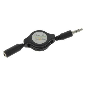 Q-link kabelroller audio jack verlengsnoer zwart