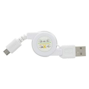 Q-link kabelroller voor micro-USB 0,75 m wit