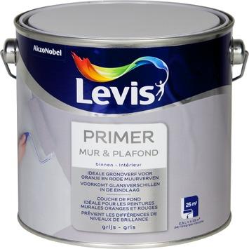 Couche de fond pour mur et plafond Levis gris 2,5 L