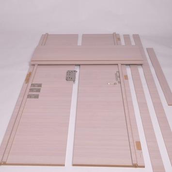 Solid deurkassement Senza Classico MDF eik wit horizontaal 201,5x10x1,8 cm