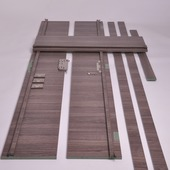 Huisserie Senza horizontal D02 15 mm 201,5x40 cm Forest