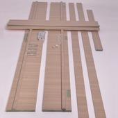 Huisserie hydrofuge Senza horizontal D07 18 mm 201,5x20 cm Sandy