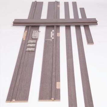 Solid deurkassement Senza Classico MDF antraciet eik verticaal 201,5x40x1,8 cm