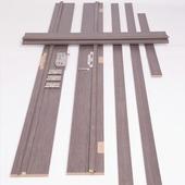 Huisserie Senza vertical D02 15 mm 201,5x40 cm anthracite