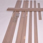 Huisserie Senza vertical D02 15 mm 201,5x16,5 cm chêne gris