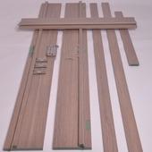 Huisserie hydrofuge Senza vertical D07 18 mm 201,5x20 cm chêne gris