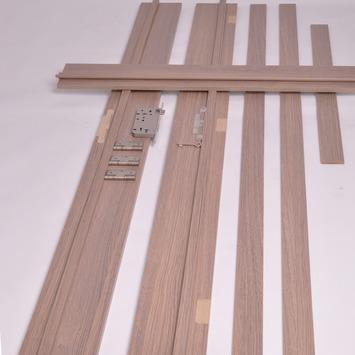 Deurkassement Senza verticaal eik grijs D02 dikte 15 mm, hoogte 201,5 cm en breedte 40 cm
