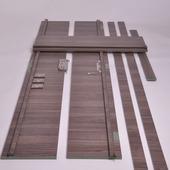 Huisserie hydrofuge Senza horizontal D07 18 mm 201,5x30 cm Forest
