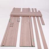 Huisserie hydrofuge Senza vertical D07 18 mm 201,5x30 cm chêne gris