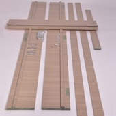 Huisserie hydrofuge Senza horizontal D07 18 mm 201,5x30 cm Sandy