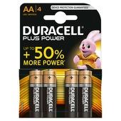 Duracell Plus Power alkaline AA-batterijen 4 st