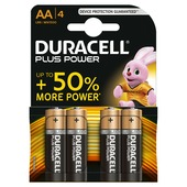 Piles AA Duracell Plus Power alcaline 4 pces
