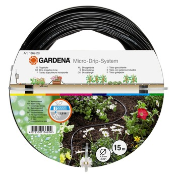 Gardena druppelbuis boven 4,6 mm 15 m