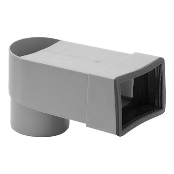 Adaptateur bac collecteur horizontal Aquaplan 45° ø 60/80 mm
