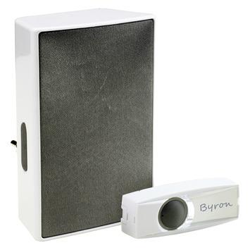 Byron BY611E plug-in deurbel met draadloze drukknop 200 m