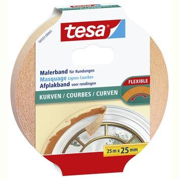Tesa flexibele afplakband voor rondingen 25 m x 25 mm