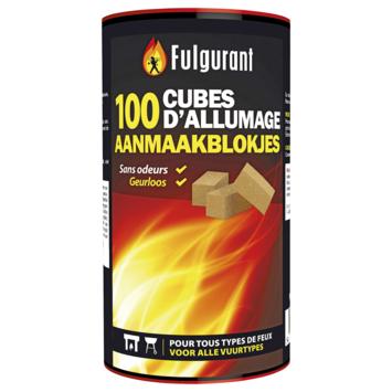 Cubes allume-feu Fulgurant 100 pièces