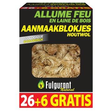 Fulgurant aanmaakblokjes houtswol 26 + 6 gratis