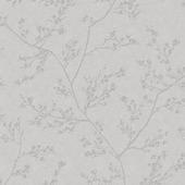 Vliesbehang springtime grijs zilver 100506 10 m x 52 cm