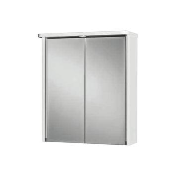 Armoire à miroir Tamrus MDF 2 portes  avec éclairage et prise