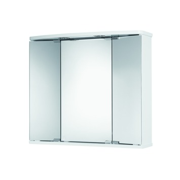 Armoire à miroir Funa MDF 3 portes avec éclairage et prise