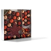 Kerstballen maroon 45 stuks