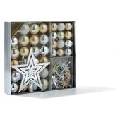 Kerstballen zilver/goud/champagne 45 stuks
