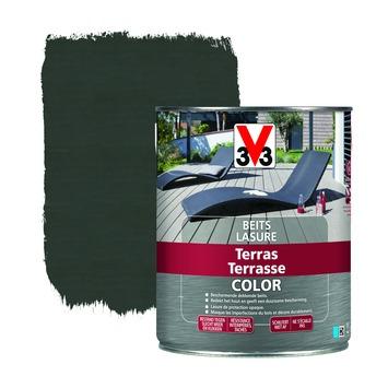 V33 dekkende terrasbeits mat vergrijsd hout 2,5 L