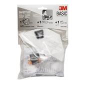Kit de sécurité 3M Basic lunettes, bouchons antibruit et masque anti-poussière