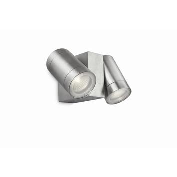Applique extérieure Evenings Philips GU10 2x 35W 540 lumens inox ampoules non fournies