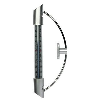 Raamthermometer metaal 20x2,5x2,5 cm