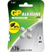 GP Alkaline knoopcelbatterij voor horloge 1,5V A76 4 stuks