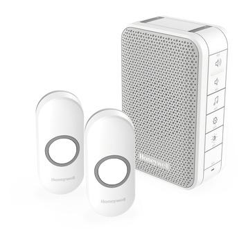 Sonnette sans fil avec 2 boutons Honeywell portée 150 m blanc