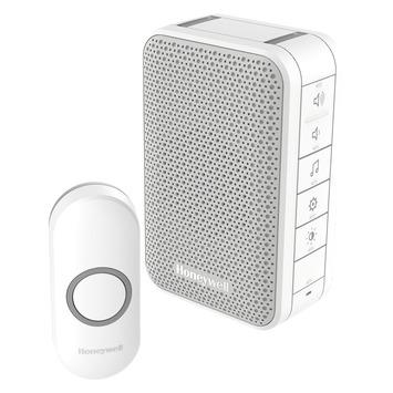 Sonnette sans fil LED avec bouton Honeywell portée 150 m blanc