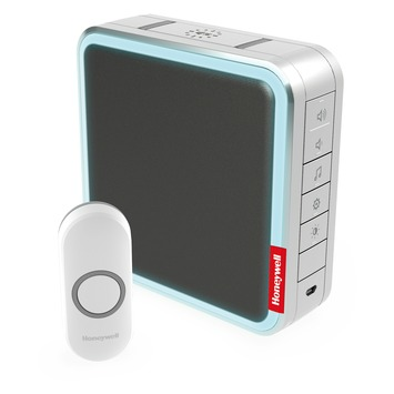 Honeywell series 9 deurbel met drukknop draadloos 200 meter MP3 wit