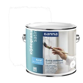 GAMMA lak extra dekkend zijdeglans wit 2,5 L