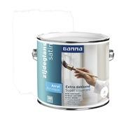 GAMMA Extra Dekkend acryllak zijdeglans wit 2,5 L